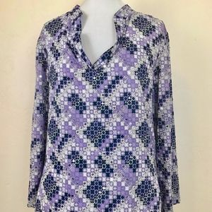 Tory Burch tunic top purple black sequins